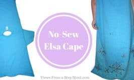 DIY No-Sew Elsa Cape for Pretend Play