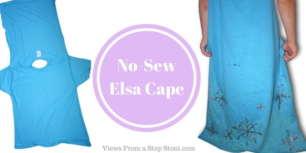 DIY No-Sew Elsa Cape for Pretend Play