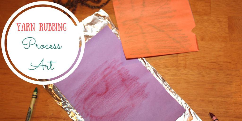 Yarn Rubbing Process Art