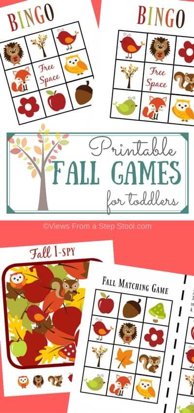 printable fall games pin