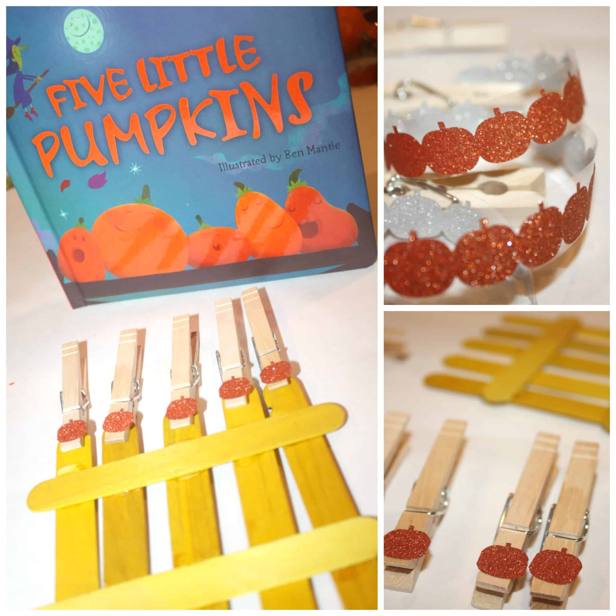 This 5 Little Pumpkins fine motor busy bag is simple to throw together and will keep your kids practicing pre-handwriting skills without even knowing it!