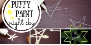 Puffy Paint Night Sky: A Glow in the Dark Toddler Art Activity