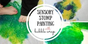 Sensory Stomp Painting with Bubble Wrap
