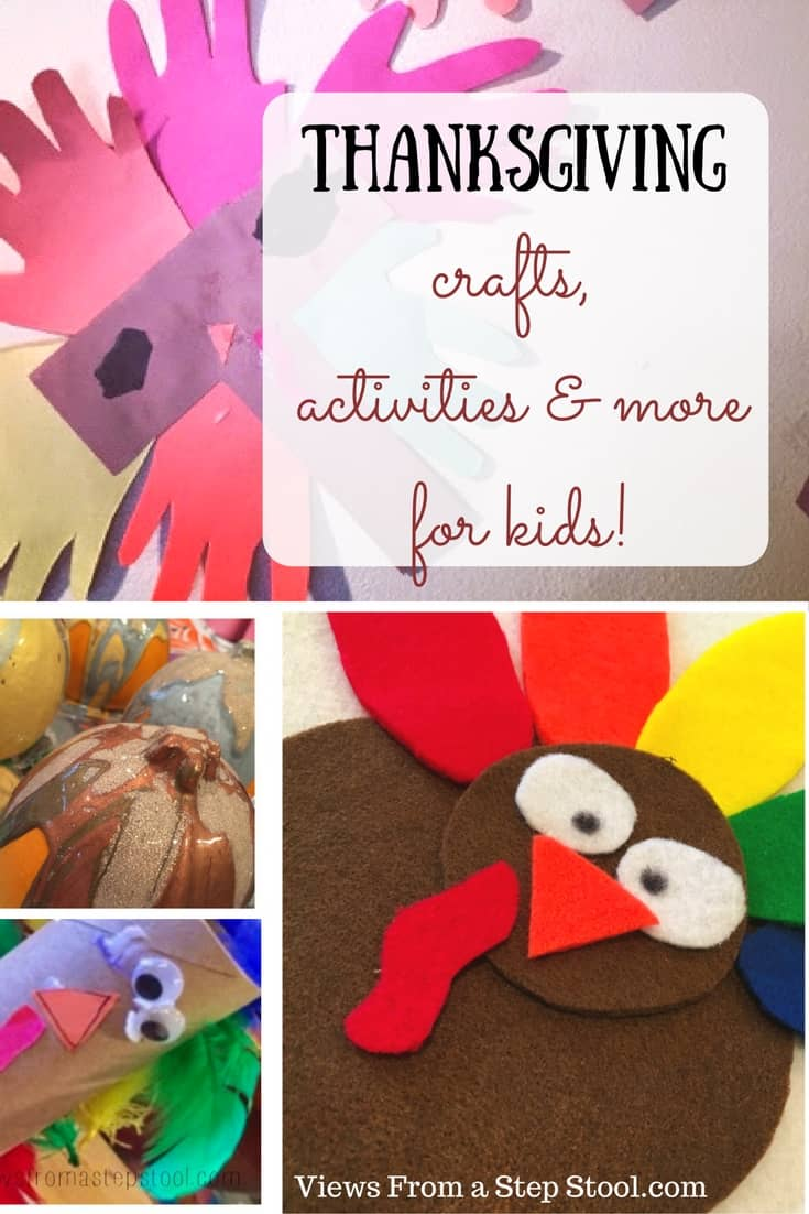 Printable activities, Thanksgiving crafts and treats for a kids' celebration! From turkeys to pumpkins, these are perfect for some festive fun.