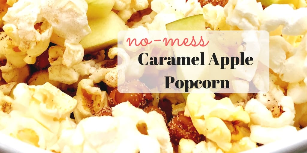 No-Mess Caramel Apple Popcorn