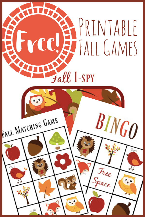 fall games pin
