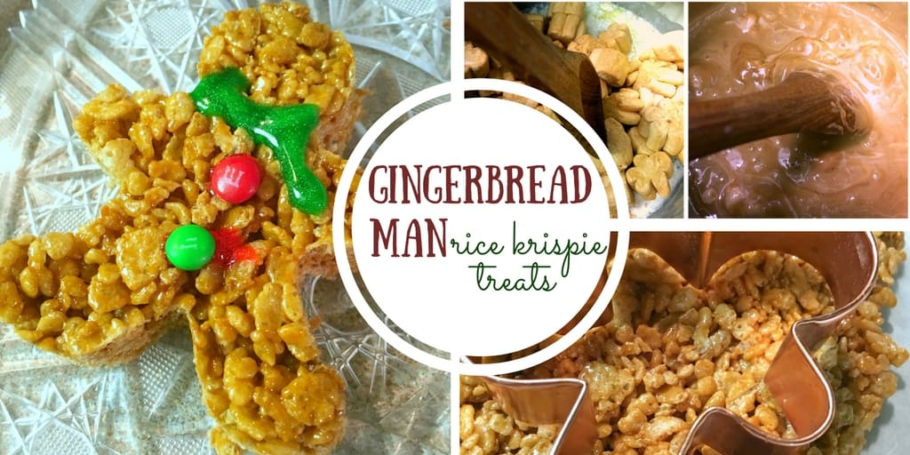 Gingerbread Man Rice Krispie Treats