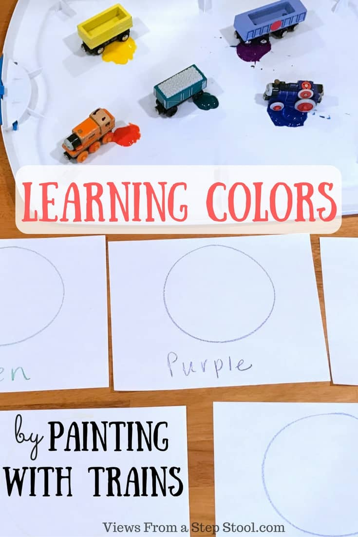 Learning Colors By Painting With Trains Views From A