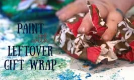 Paint Using Leftover Wrapping Paper
