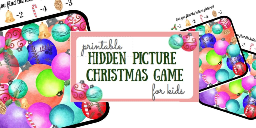 Christmas Tradition: Spot the Decorations Game with Free Printable!