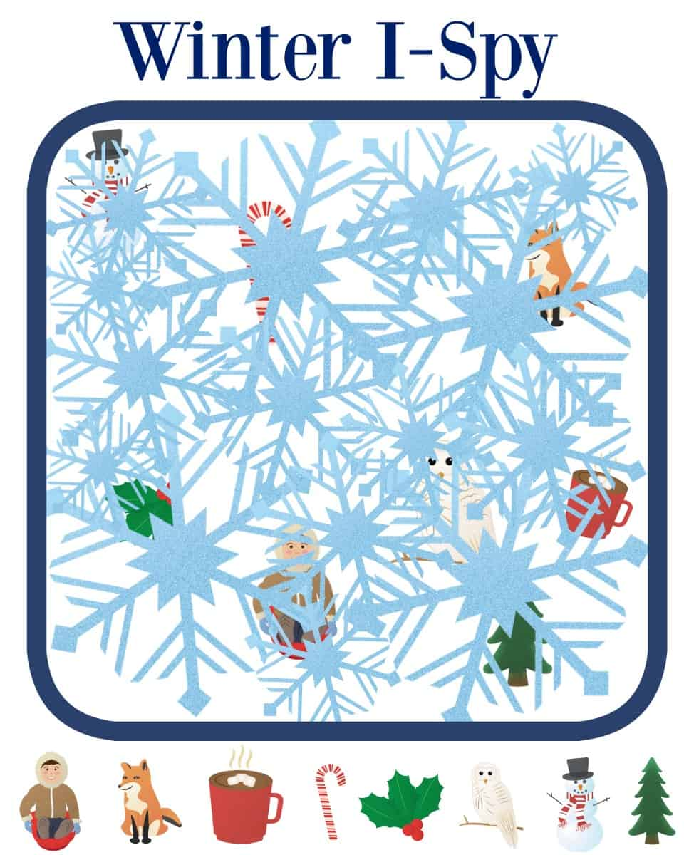 Printable Winter Games for Toddlers - Views From a Step Stool