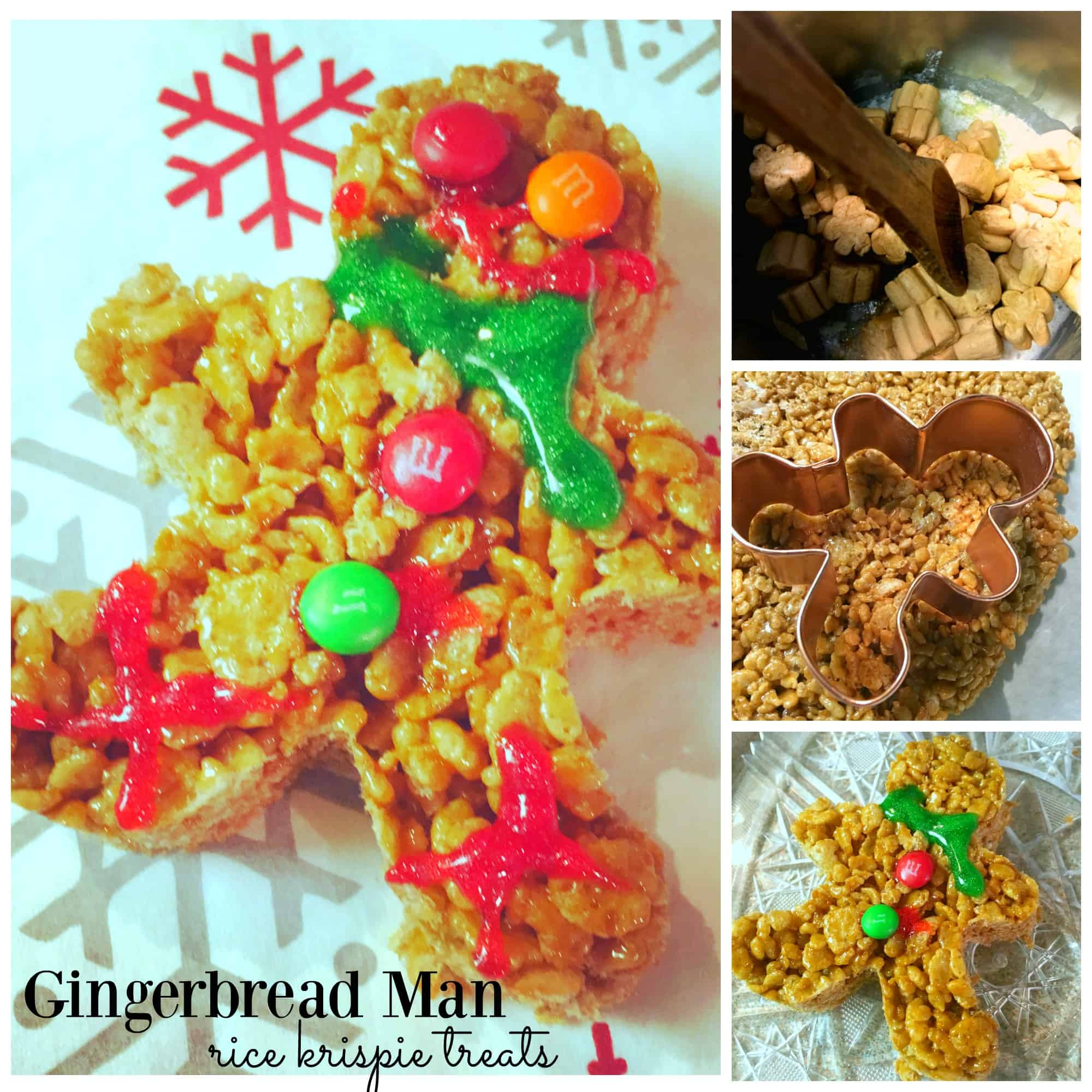 These gingerbread man rice krispie treats are super easy for kids to make and are adorable and festive for the holidays! Perfect for a kids' party.