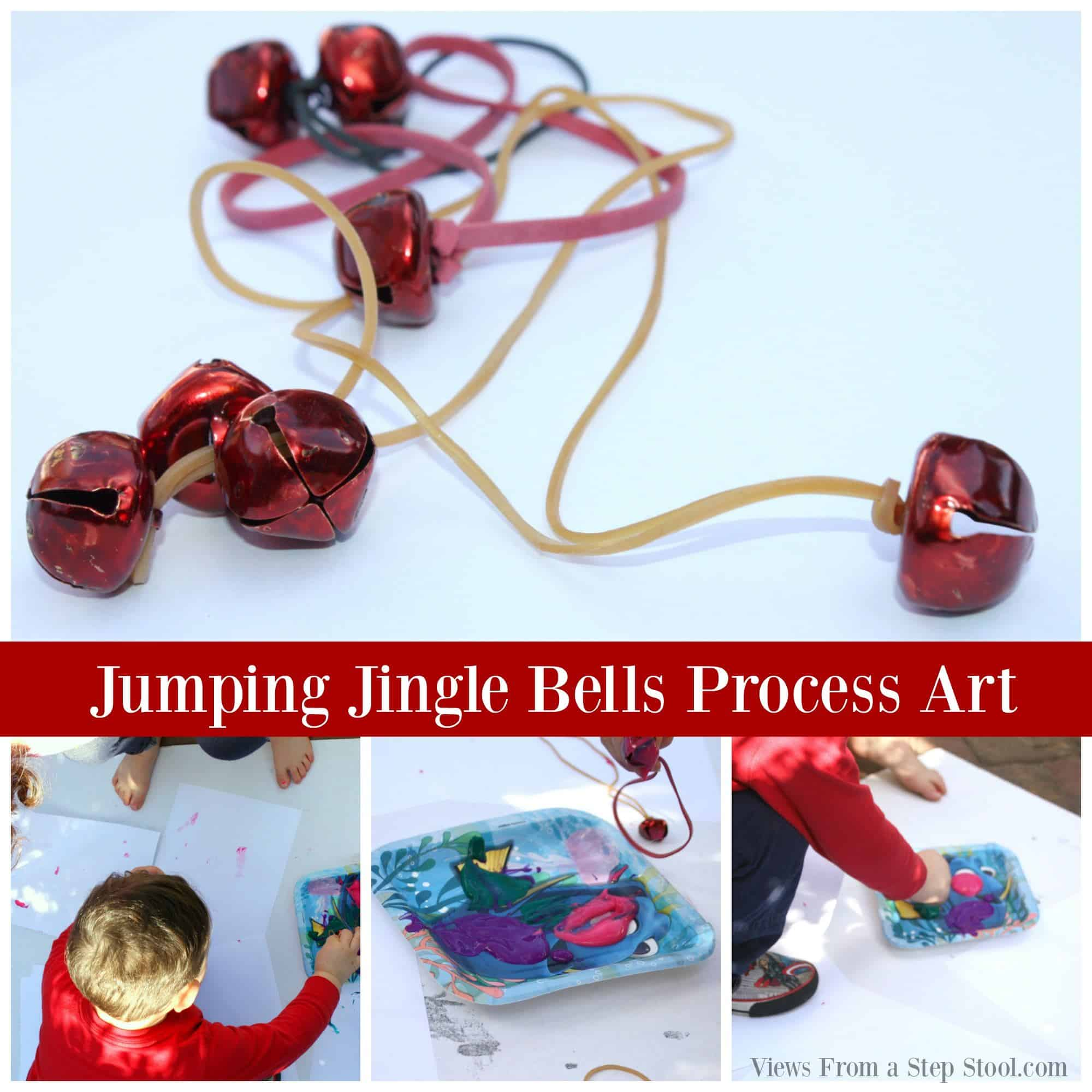 This jingle bells process art activity is a great way to celebrate the holidays while engaging all of the senses through learning and play!