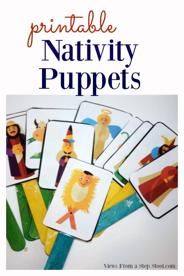 These nativity puppets are very easy to make and are perfect for dramatic play at home. Help kids learn and understand the The Nativity Story through play.