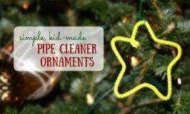 Kid-Made Ornaments with Pipe Cleaners and Cookie Cutters