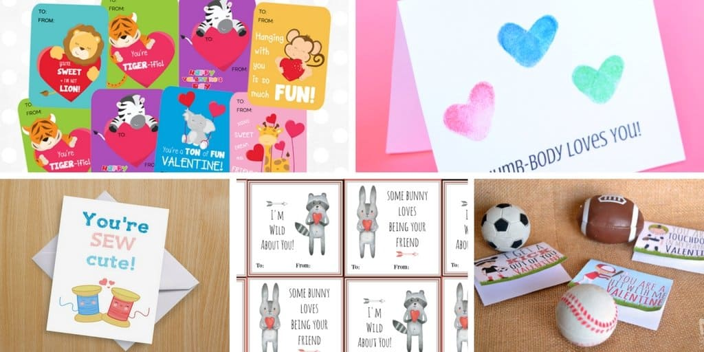 20 Printable Valentines Day Cards for Kids Views From a Step Stool – Online Printable Valentine Cards