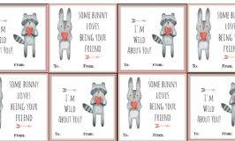 Free Printable Woodland Animal Valentines