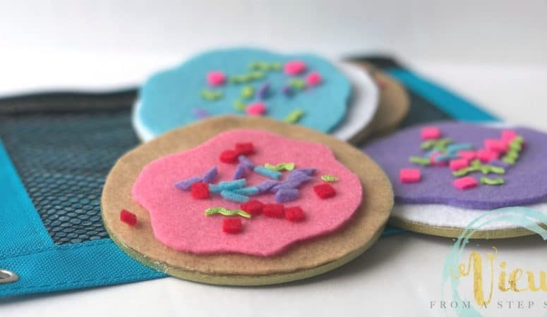 Felt Cookie Busy Bag for If You Give a Mouse a Cookie
