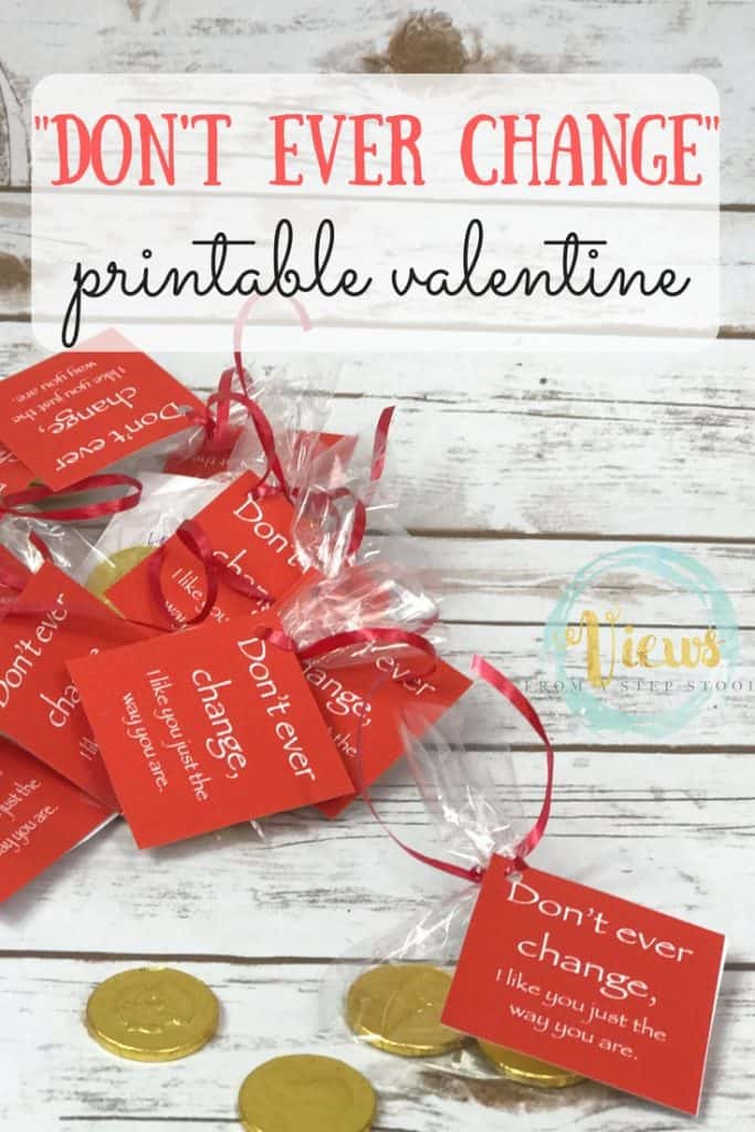 Chocolate Coin Valentines With Free Printable Tag