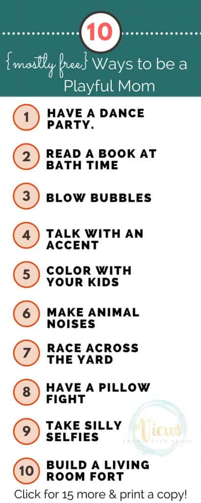 Here are some ways to be a playful mom that will help strengthen your relationship with your child. While allowing you to re-experience the power of play!