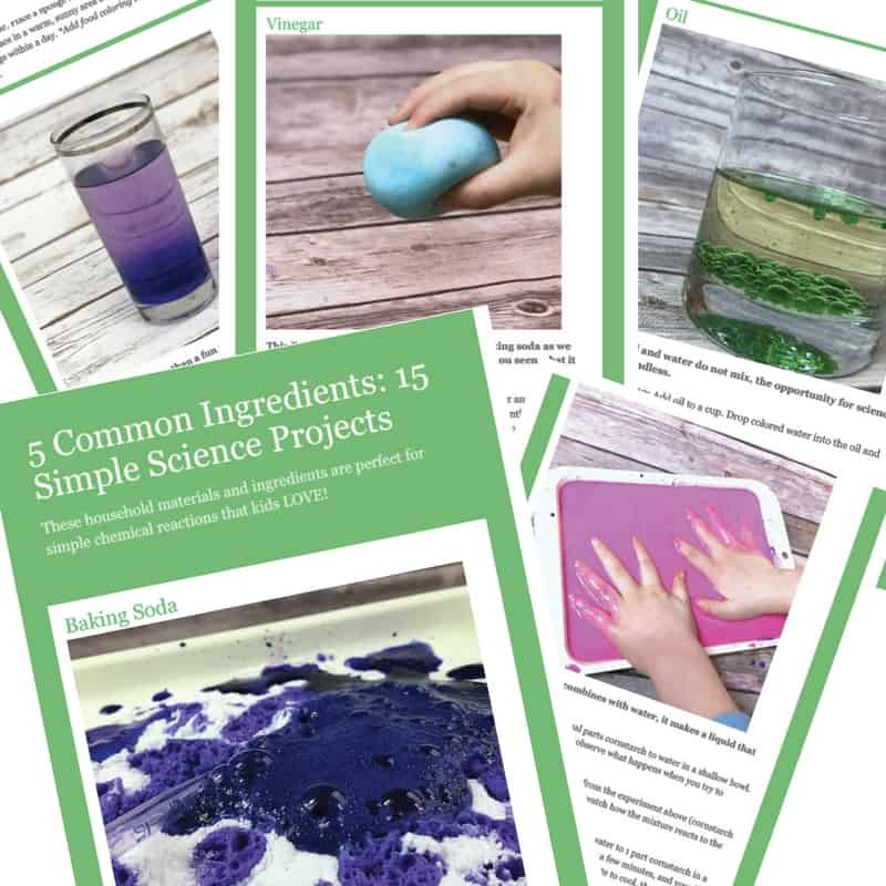 Doing simple science projects at home can keep kids busy and learning. With just 5 simple household ingredients, you can complete 15 really fun and awesome science projects!