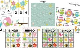 Spring-Themed Printable Games for Toddlers and Preschoolers