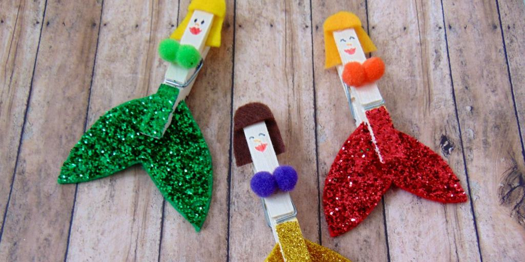 Clothespin Mermaid Craft for Kids