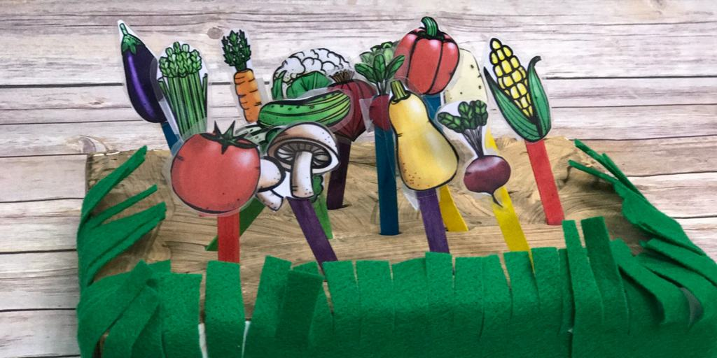 Garden Pretend Play and Fine Motor Activity with {free} Printable Vegetables