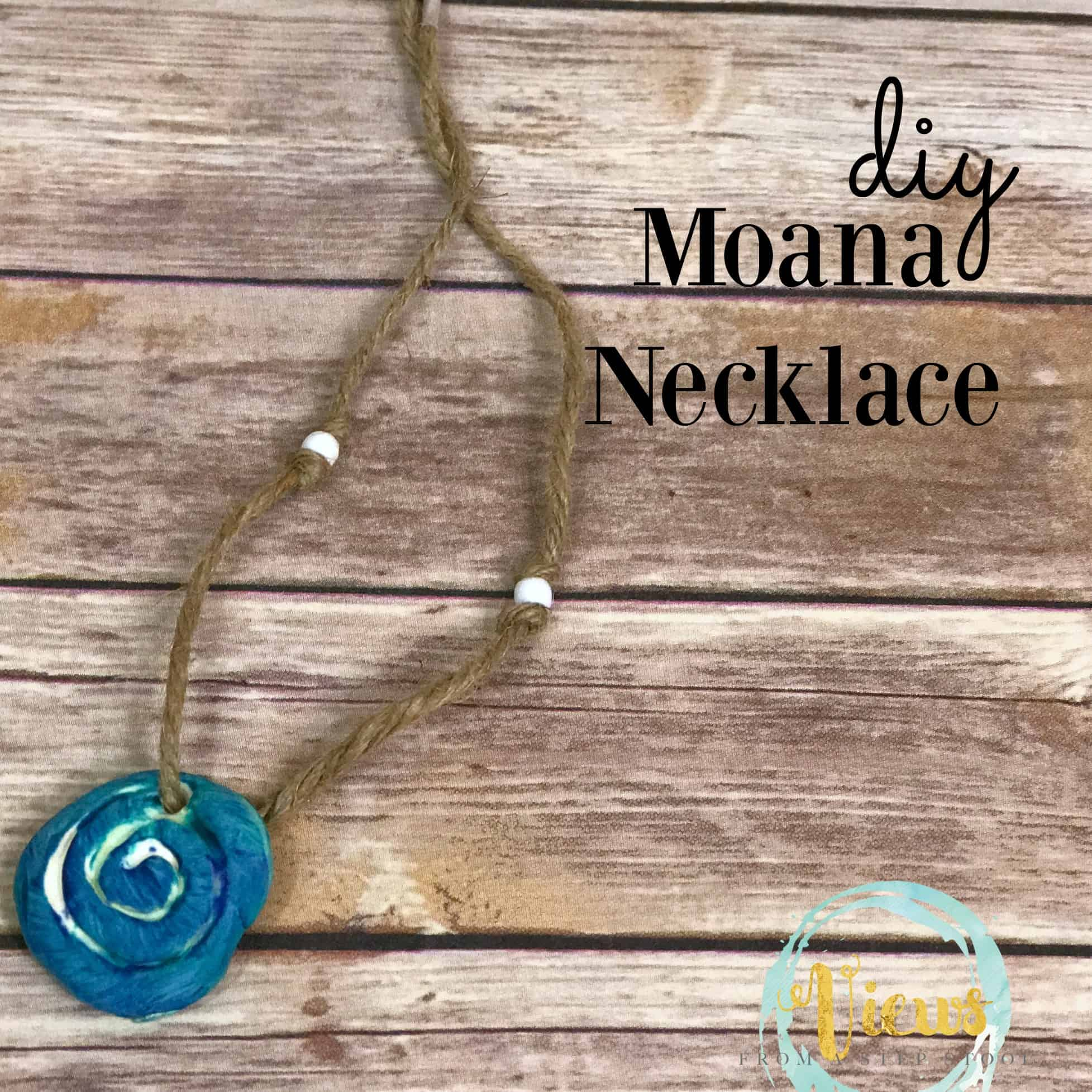 This simple DIY Moana necklace is great for kids of all ages. Easy to make with very few materials, perfect for pretend play or dress-up!