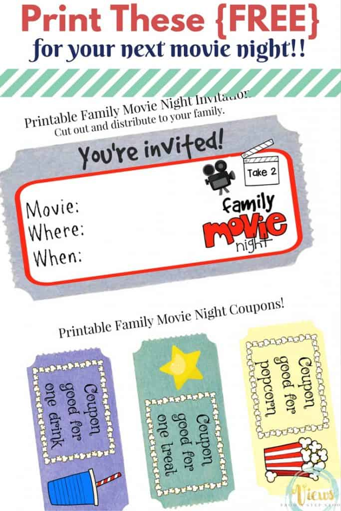 Host A Movie Night Your Kids Will Love Plus Free Printable Invitations