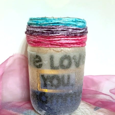 This DIY lantern makes the perfect gift for Mother's Day or a birthday! Kids will love to make them, and moms will love to use them.