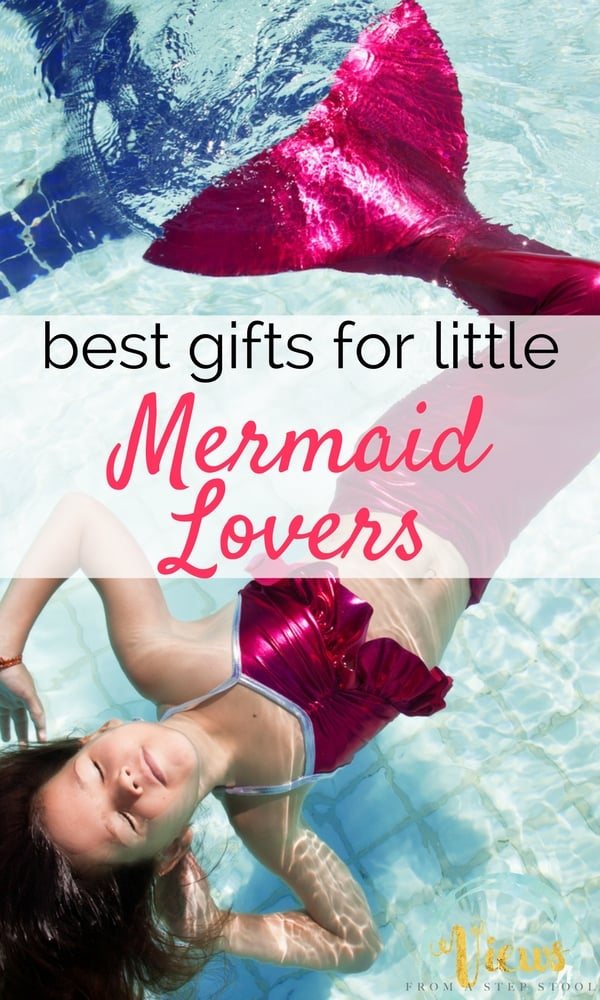 These mermaid gifts will suit any little mermaid lover. The list includes items for the pool, toys and games, and mermaid gear for any day!