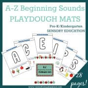 A-Z PLAYDOUGH SQUARE