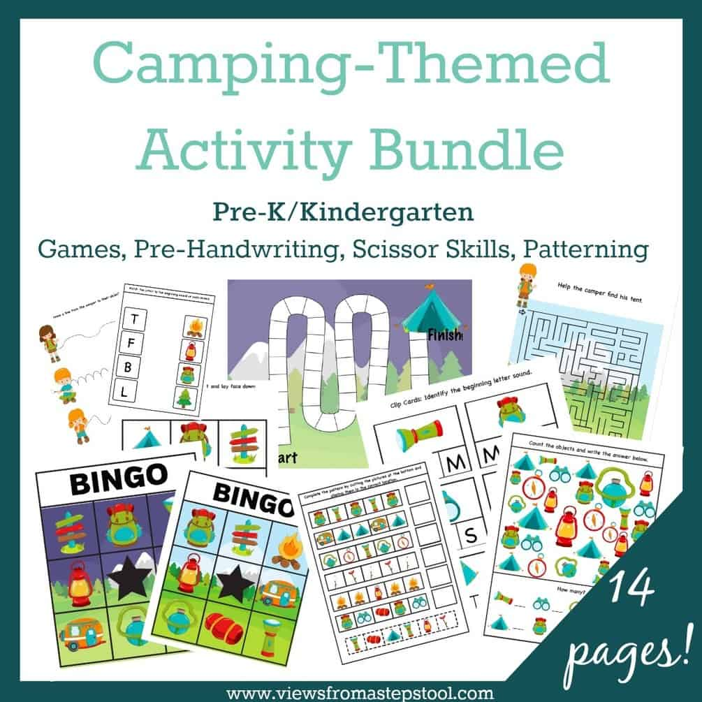 Camping-Themed Activity Printable Pack - Views From a Step