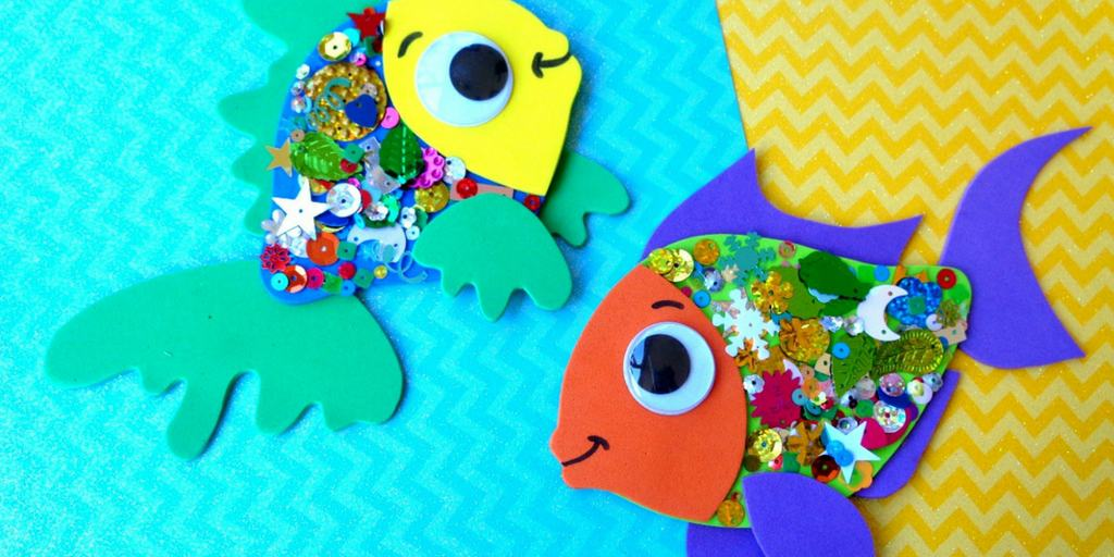 Confetti Fish Craft for Kids
