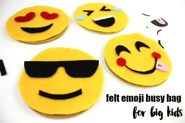 Felt Emoji Busy Bag