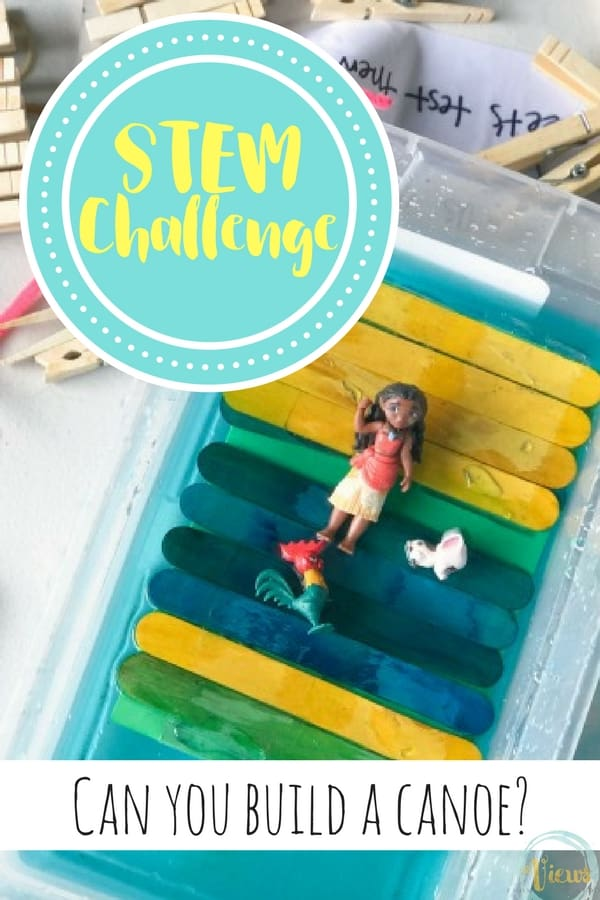 A STEM challenge provides kids with the opportunity to perfect a design through trial and error. In this STEM challenge, we build boats for Moana, and even made some that floated!