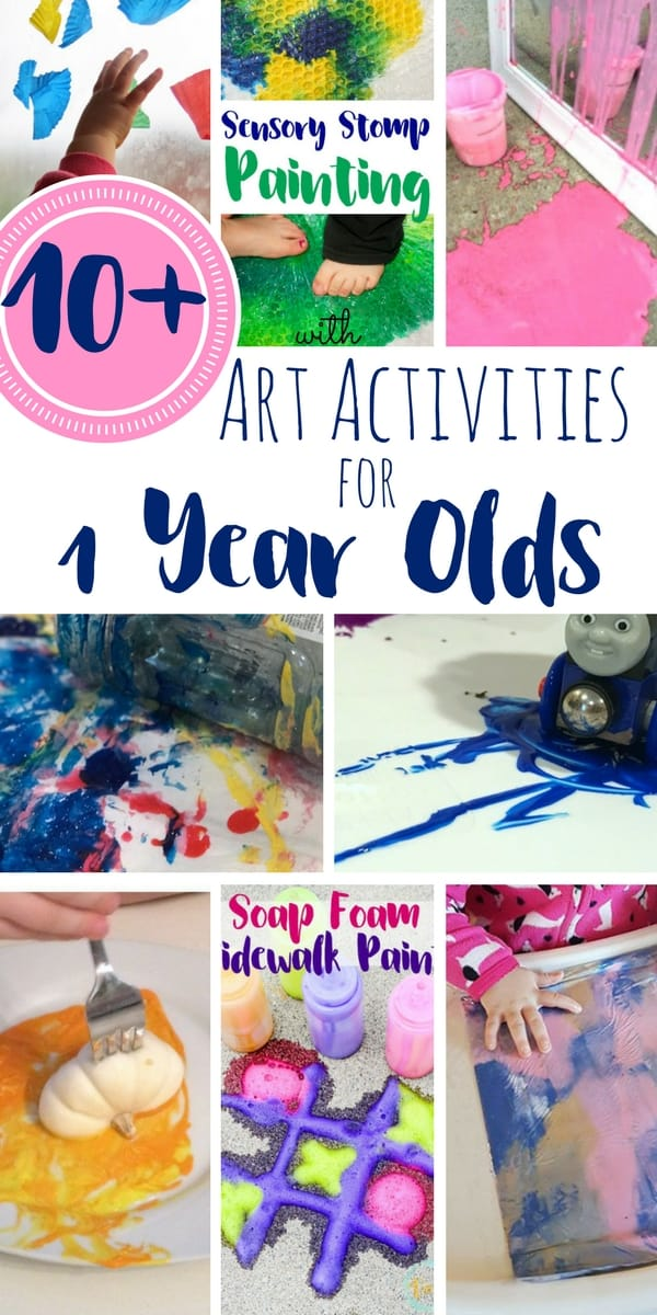 10 Art Activities For 1 Year Olds Views From A Step Stool