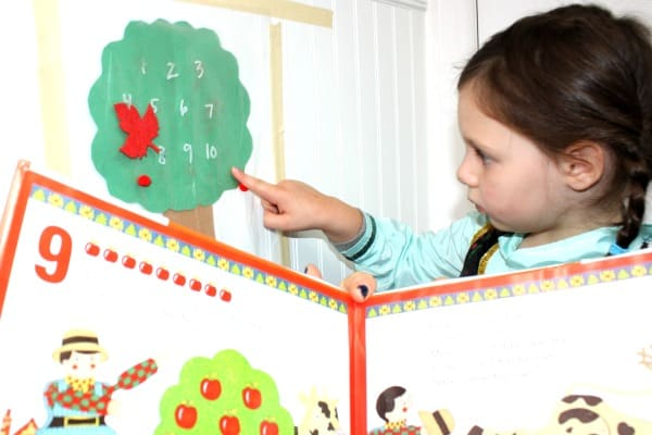 Apple Picking Sticky Wall – A Ten Red Apples Activity