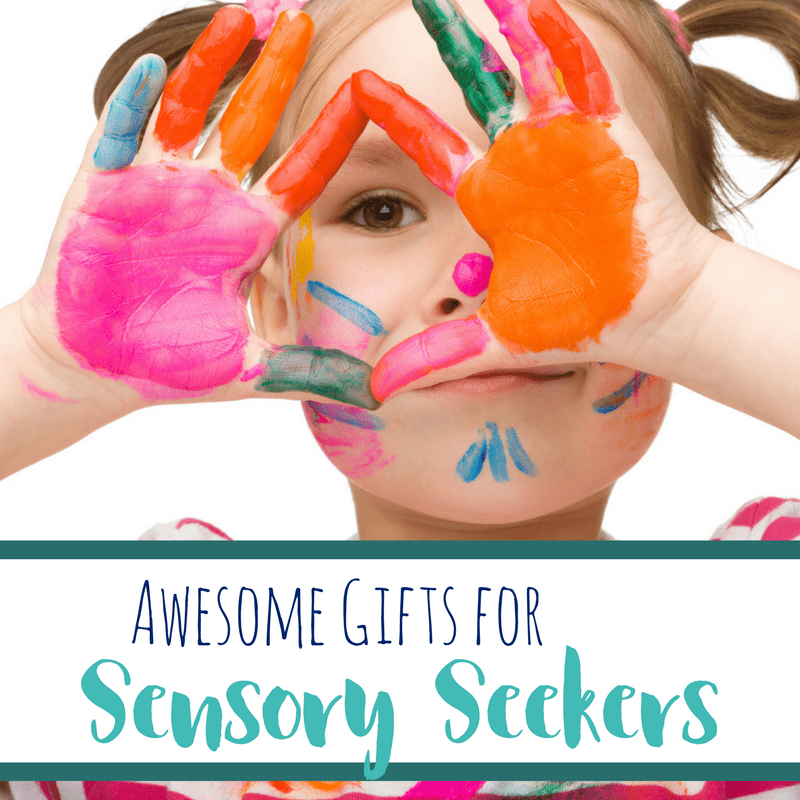 Sensory seekers are kids looking for sensory input in a number of forms. These products will give them what they are searching for, and make great gifts!