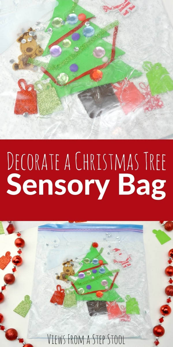 It can be difficult to find sensory activities for babies and toddlers! This Christmas tree sensory bag is the perfect solution for this age group.