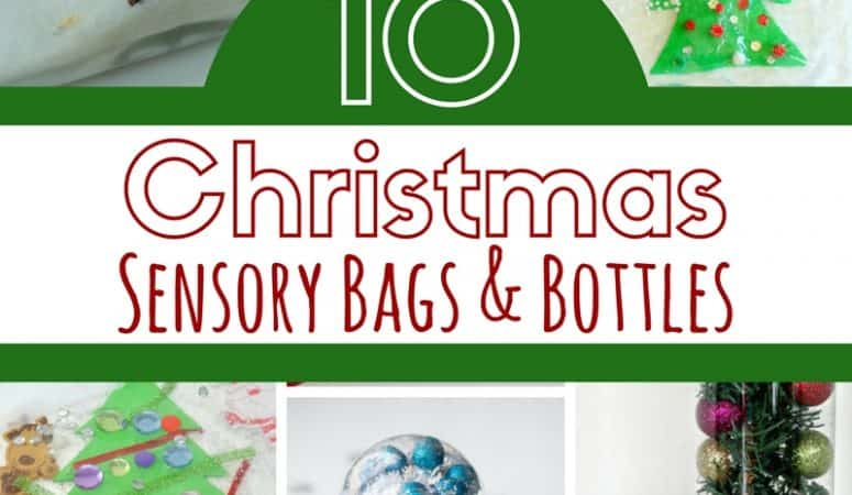10 Christmas Sensory Bottles and Bags for Babies