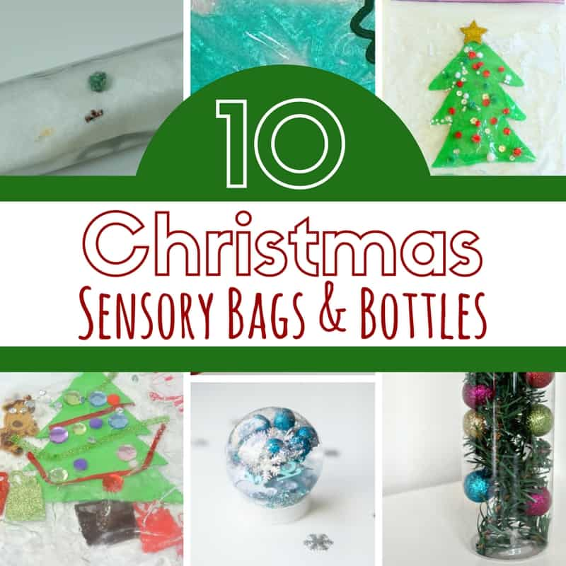 these christmas sensory bottles and bags are amazing alternatives to sensory bins that are baby