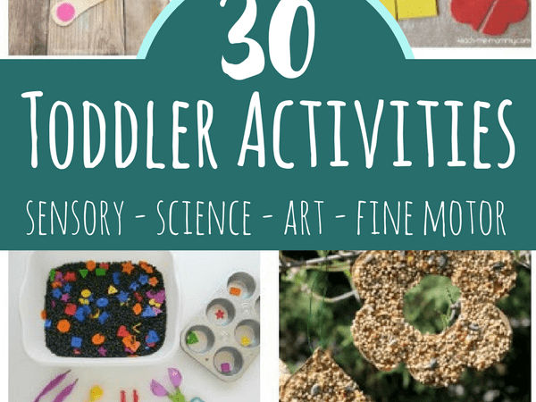 Toddler Activities including Art, Sensory and Fine Motor Play