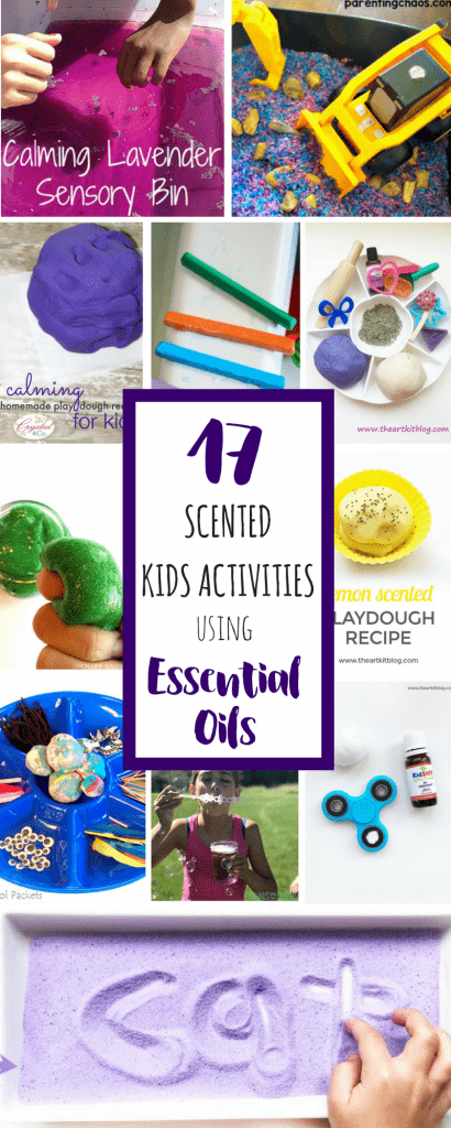 Activities that are scented with essential oils for kids. Perfect for play or sensory integration. Add scent and an extra sensory component for play!