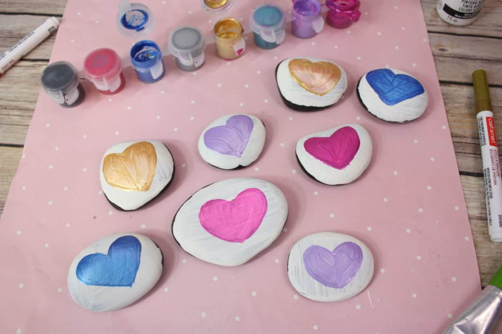 Conversation Heart Painted Rocks Views From A Step Stool