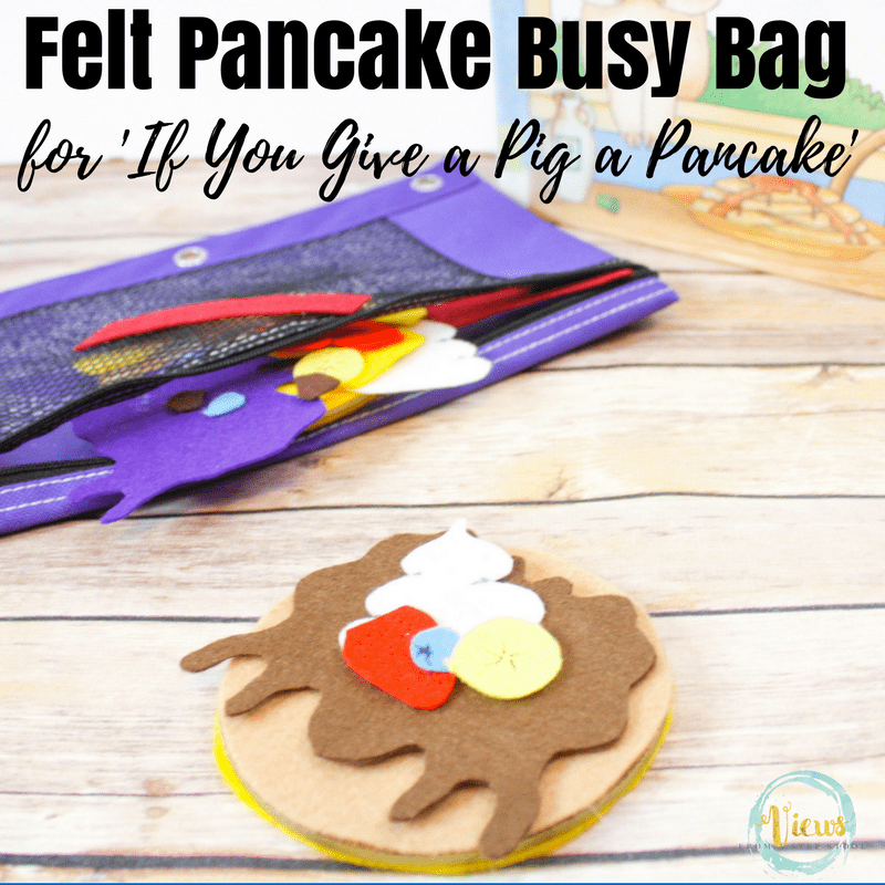 pancake felt busy bag square