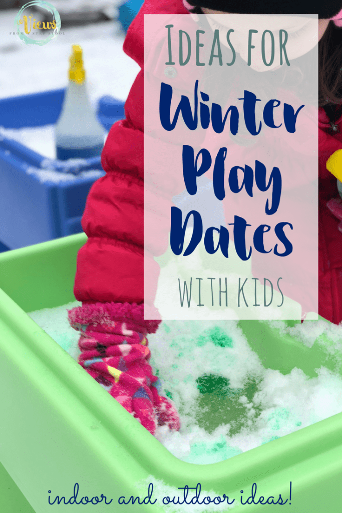 These Winter playdate ideas for kids include outdoor fun, indoor crafting, and some places that kids enjoy going to to play with friends.