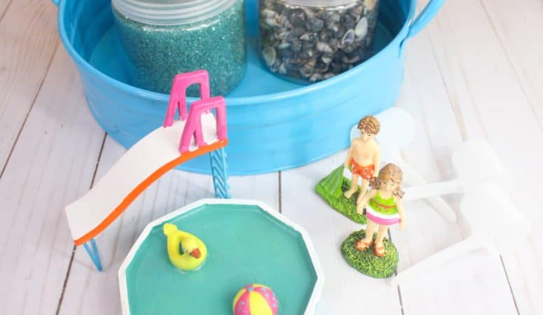 Pool Party Sensory Bin Small World for Kids