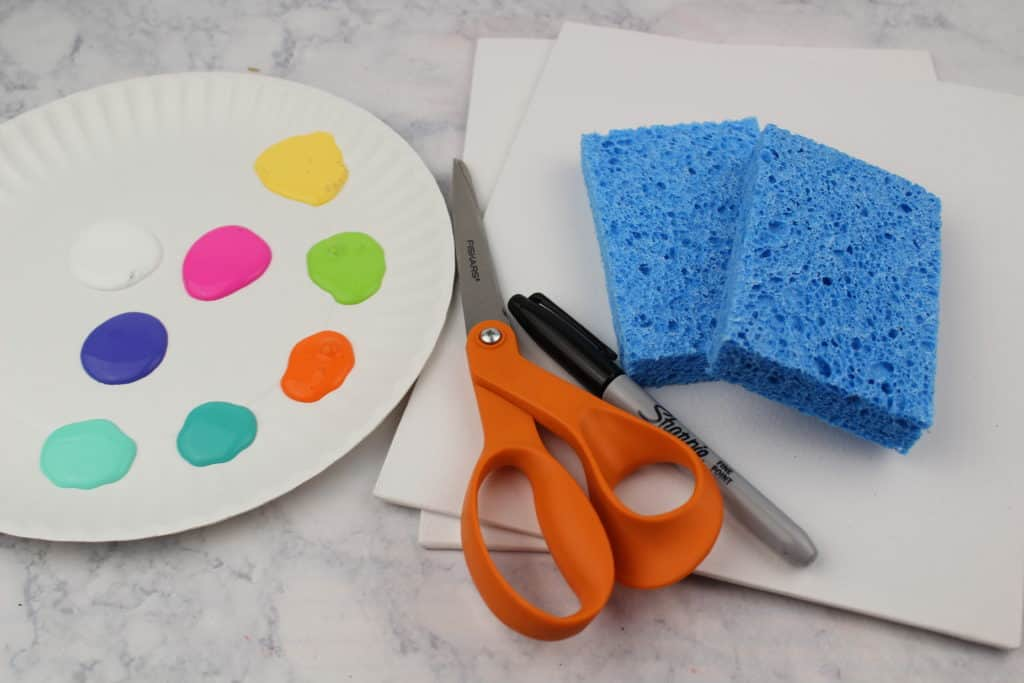 This Easter art project for kids focuses on the process rather than the end result. Using sponges, children will create beautiful Easter eggs.